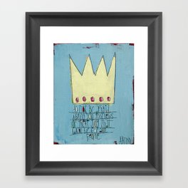 Good News of Great Joy Framed Art Print