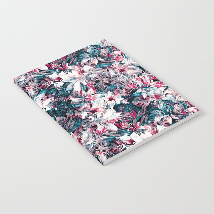 Seamless Floral And Paisley Pattern Notebook