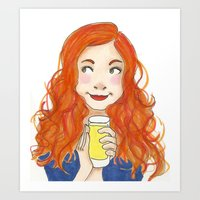 amy pond Art Prints featuring Amy Pond Lemonade by Lena Lang