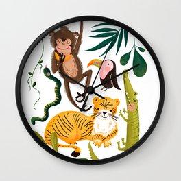 Jungle Critters Wall Art Wall Clock