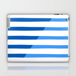 Beach Stripes Blue Laptop & iPad Skin