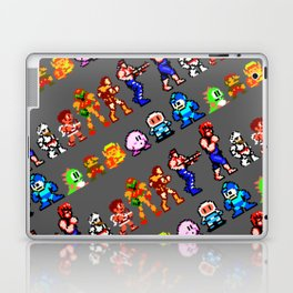 8-bit heroes (NES) | grey | retrogaming nostalgia Laptop & iPad Skin