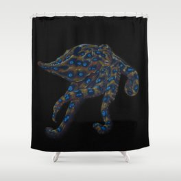 Blue-ringed Octopus Shower Curtain