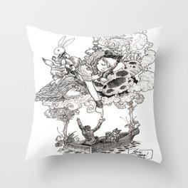 Dreaming Alice Throw Pillow