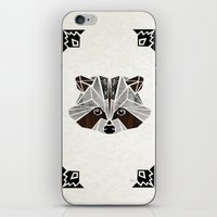 raccoon iPhone & iPod Skins featuring raccoon! by Manoou