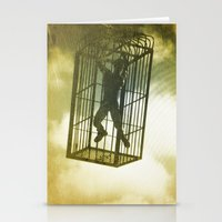 cage Stationery Cards featuring Cage by Azure Cricket