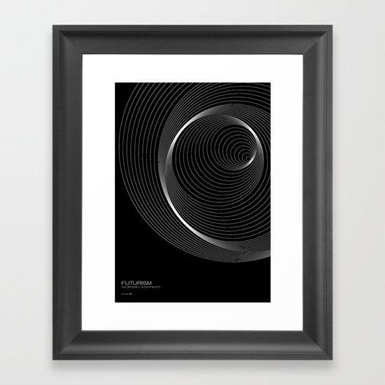 Futurism - Orbits Framed Art Print