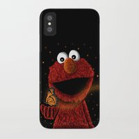 elmo iPhone & iPod Cases featuring Elmo and Little Butterfly by Fathi