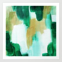 emerald Art Prints featuring Emerald by Patricia Vargas