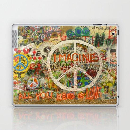 Peace Sign - Love - Graffiti Laptop & iPad Skin