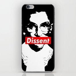 Ruth Bader Ginsburg Dissent Feminist Political RBG iPhone Skin