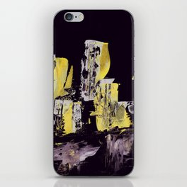 Yellow Purple Cityscape iPhone Skin