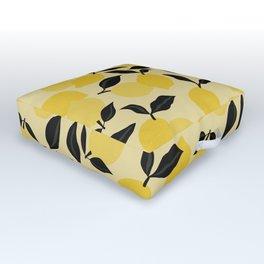 Seamless Citrus Pattern / Lemons Outdoor Floor Cushion