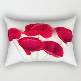 A Bunch Of Red Poppies Rectangular Pillow