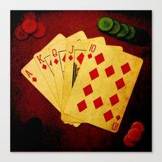 Escalera Real de Carro (Dirty Poker) Canvas Print
