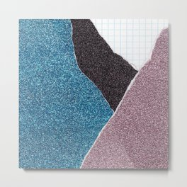 Glitter Paper Collage #2 Metal Print