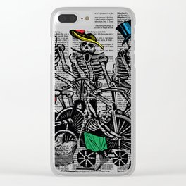Calavera Cyclists Clear iPhone Case