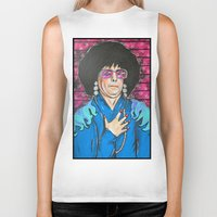snl Biker Tanks featuring SNL Mike Meyers as Linda Richman by Portraits on the Periphery
