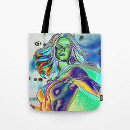 Chrome Supergirl Tote Bag