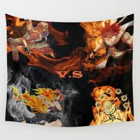 anime Wall Tapestries featuring Anime VS Anime  by Pierre Venter