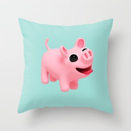 Rosa Jumping blue Throw Pillow