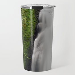 Beautifull mountain waterfall in a forest Travel Mug
