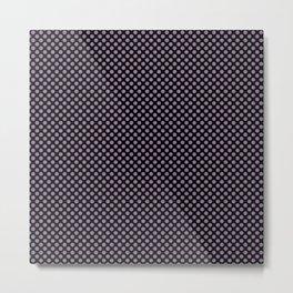 Black and Orchid Mist Polka Dots Metal Print