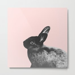 Little Rabbit on Blush #1 #decor #art #society6 Metal Print