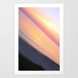 Sunset in the beach Art Print