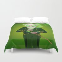 oz Duvet Covers featuring The Wizard from Oz by Max Schultz