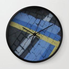 color stripe angles Wall Clock