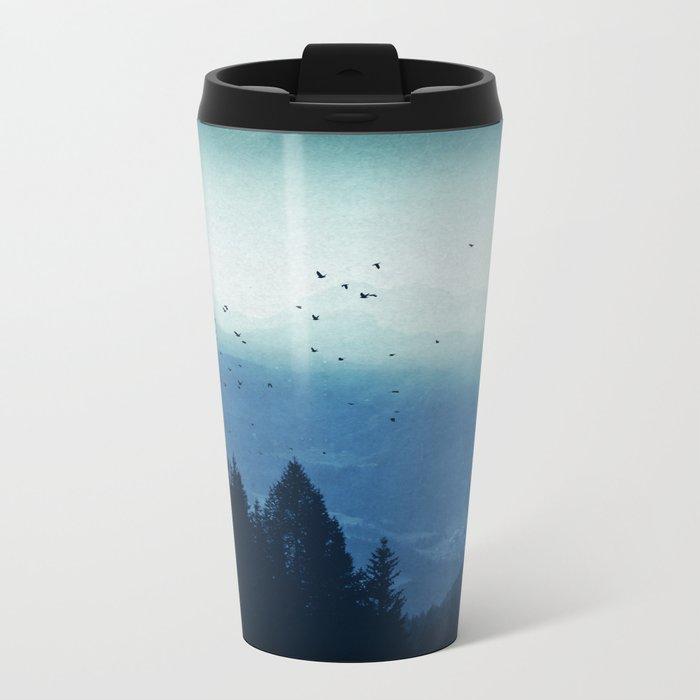 Blue Valmalenco - Alps at sunrise Metal Travel Mug