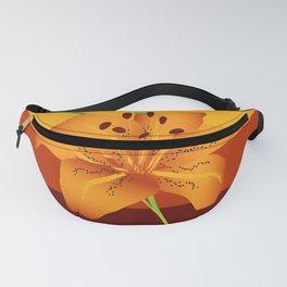 Orange Tiger Lily Fanny Pack