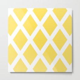Yellow Diamonds Metal Print