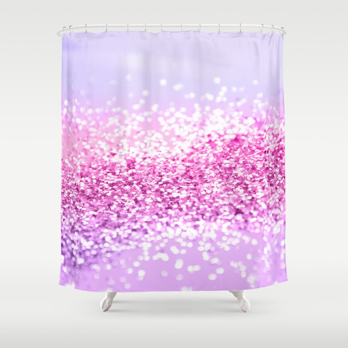 Pink Purple MERMAID Girls Glitter 1 Shiny Decor Art Society6 Shower