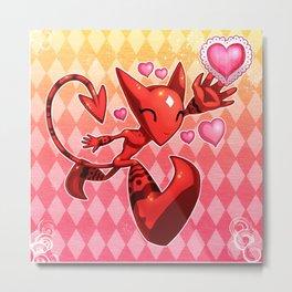 Widdershins Heart Metal Print