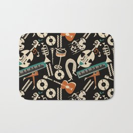 Jazz Rhythm (negative) Bath Mat
