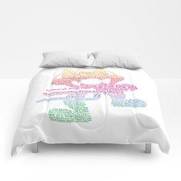 MonsterCat Typography Comforters