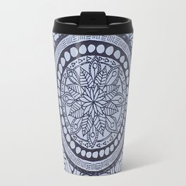 Black & White Mandala Travel Mug