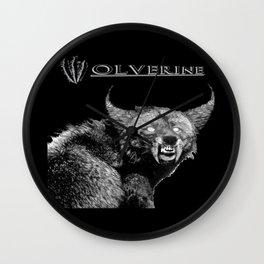 A W-olverine Named Howlie Wall Clock
