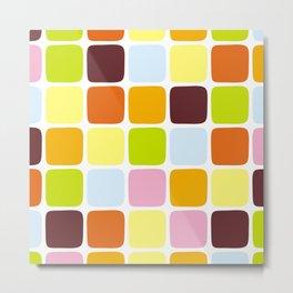 Colorful square tiles Metal Print