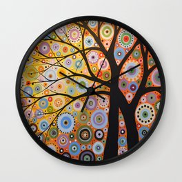 Abstract Art Landscape Original Painting ... Twin Desires Wall Clock