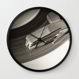 Music From a Vintage 45 RPM Record Playing on a Turntable 3 Wall Clock