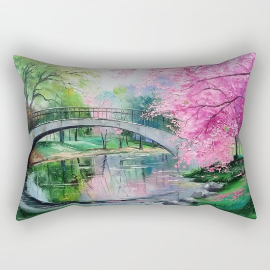 Flowering cherry Rectangular Pillow