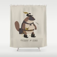 platypus in boots Shower Curtain