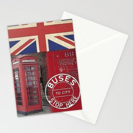 Great Britain London Union Jack England Stationery Cards