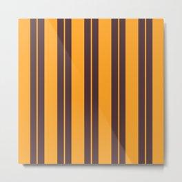 Retro Vintage Striped Pattern Metal Print