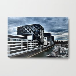 Harbor_Cologne_Germany Metal Print