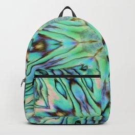 Effervescent Seashell Mandala Abstract Backpack