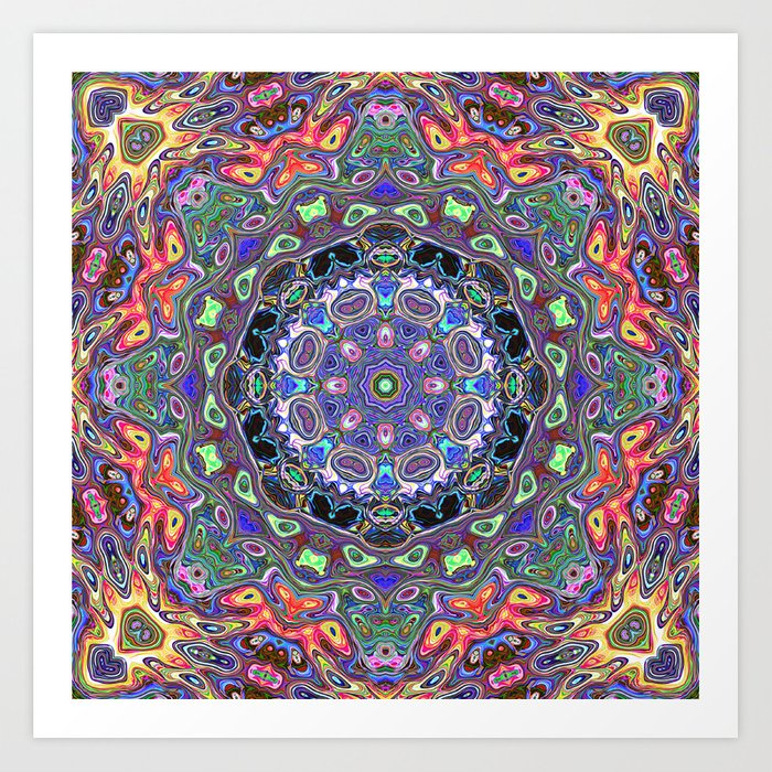 Colorful Mandala Abstract Art Print